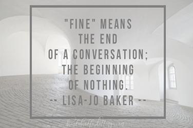 Un-fine is (blank)?  — #ChasingCommunity